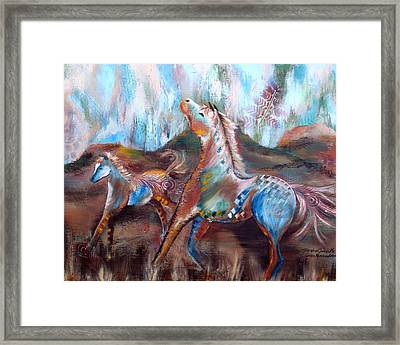The Wind Carries Me Framed Print by Chris Morningforest