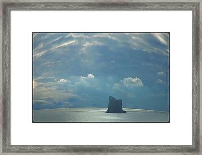 The Wind Not Sink Framed Print by Julia Moral