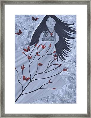 The Wind Of The Spirit Acrylic Painting By Saribelle Rodriguez Framed Print by Saribelle Rodriguez