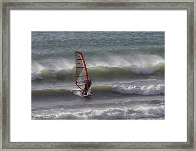 The Wind Surfer Framed Print by Brian Roscorla