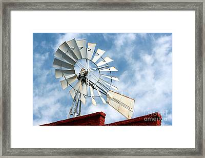 The Wind Wheel Framed Print by Kathy  White