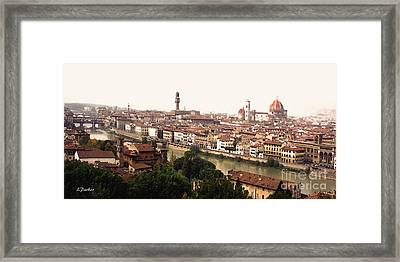 The Winding Arno Framed Print by Linda  Parker