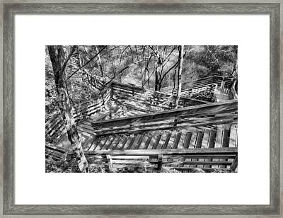 The Winding Stairs Framed Print