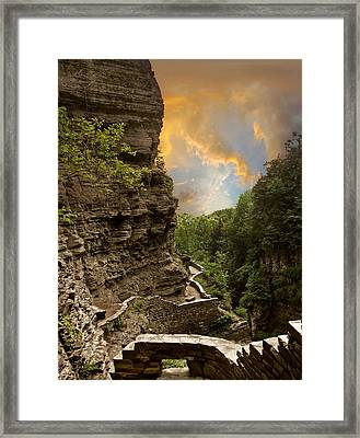 The Winding Trail Framed Print