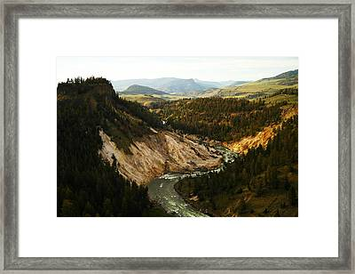 The Winding Yellowstone Framed Print by Jeff Swan