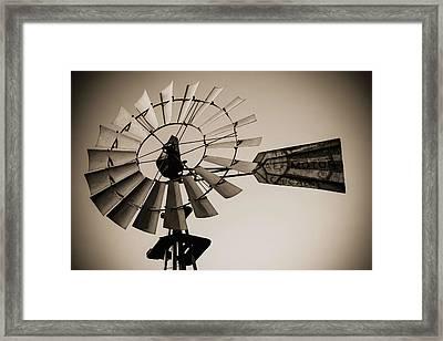 The Windmill Framed Print by Amber Kresge