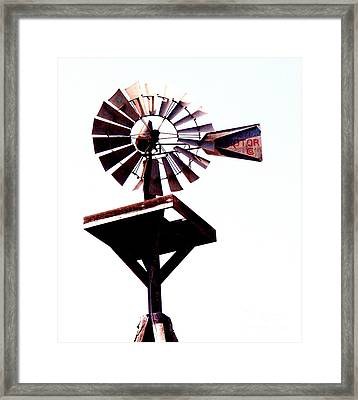 The Windmill Framed Print by Avis  Noelle