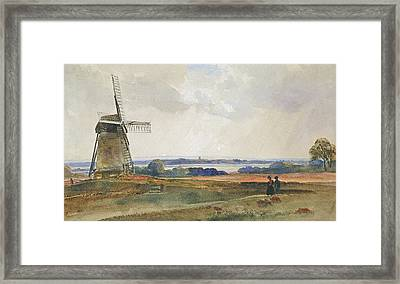 The Windmill Framed Print by Peter de Wint