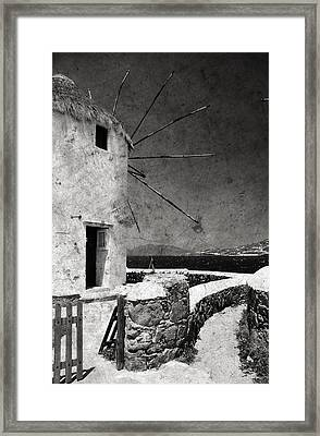 The Windmills Of Mykonos 3 Framed Print