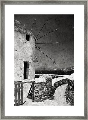 The Windmills Of Mykonos 3 Framed Print