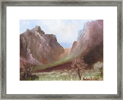 The Window At Big Bend Park Framed Print