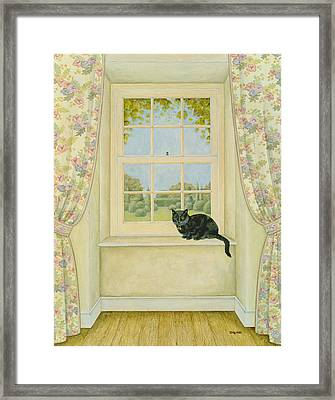 The Window Cat Framed Print