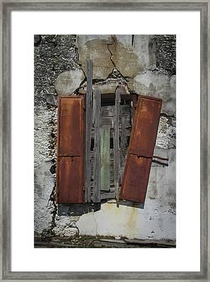 The Window Framed Print by Debra and Dave Vanderlaan