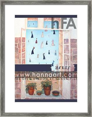 The Window Framed Print by Hanna Fluk