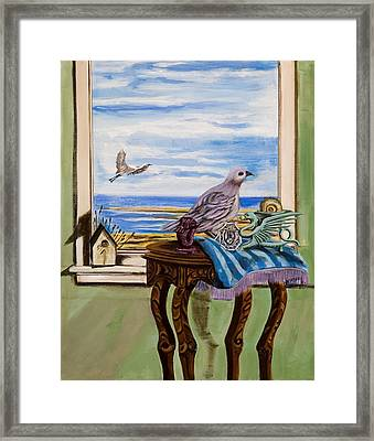 The Window Has A View Framed Print