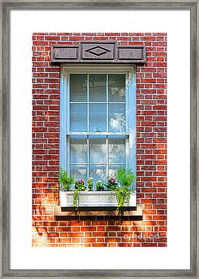The Window In The Afternoon Framed Print