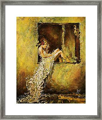 The Window Framed Print by Karina Llergo