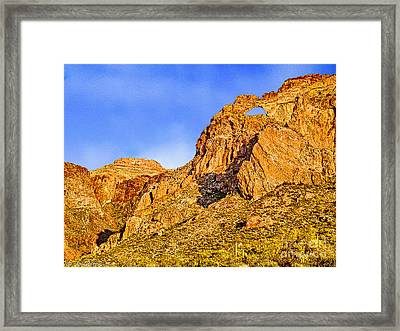 The Window Organ Pipe Cactus National Monument Sunset Framed Print by Bob and Nadine Johnston