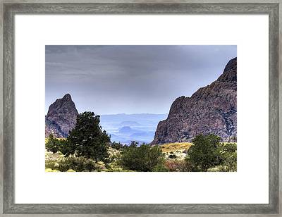The Window View Framed Print
