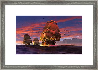 The Winds Of Triton Framed Print by Dieter Carlton