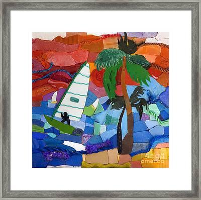 The Windsurfer Framed Print by Nicola Scott-Taylor