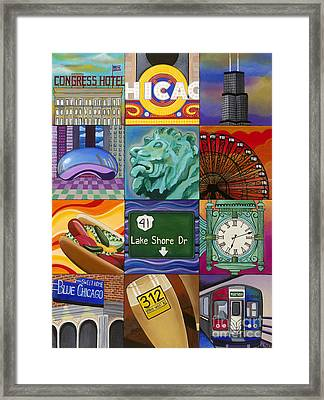 The Windy City Framed Print by Carla Bank