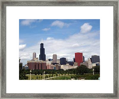 Framed Print featuring the photograph The Windy City by Teresa Schomig