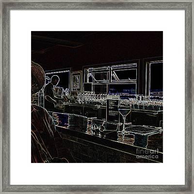 The Wine Bar Framed Print by Connie Fox