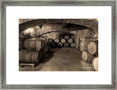 The Wine Cave Framed Print by Jon Neidert