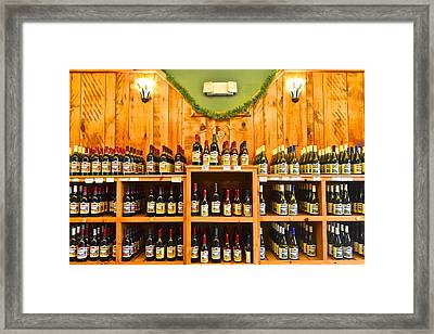 The Wine Cellar Framed Print