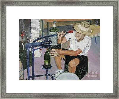 The Wine Maker Framed Print