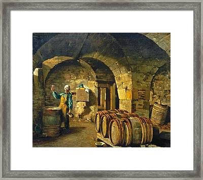 The Wine Taster Framed Print by Celestial Images