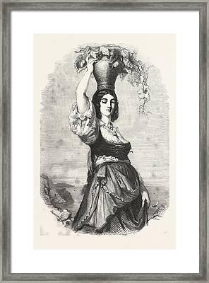 The Winemaker Of Capri Framed Print