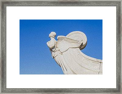 The Winged Figure Of Democracy  Framed Print