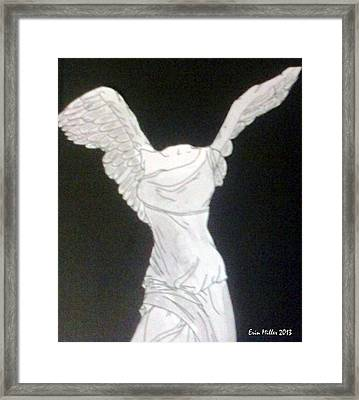 The Winged Victory Of Samothrace Framed Print by Erin Miller