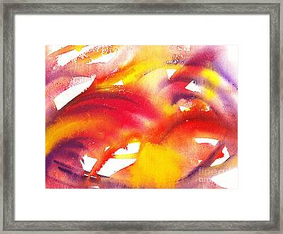 The Wings Of Light Abstract Framed Print by Irina Sztukowski