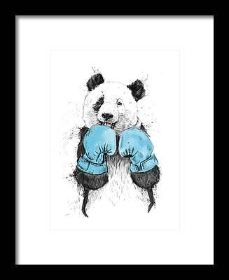 Pandas Framed Prints