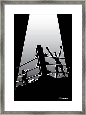 The Winner Framed Print by Ed Hernandez