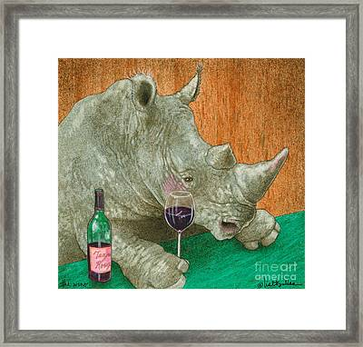 The Wino... Framed Print by Will Bullas