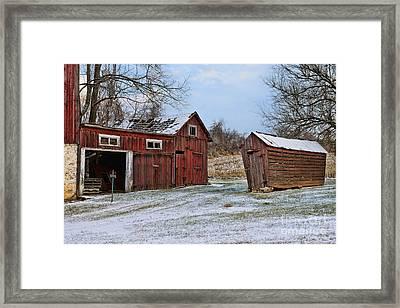 The Winter Barn Framed Print by Paul Ward