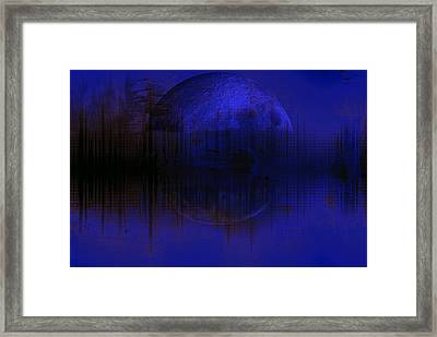 The Winter Moon Reflection Framed Print by Chastity Hoff