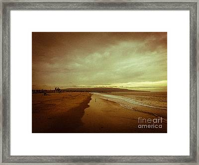 The Winter Pacific Framed Print by Fei A