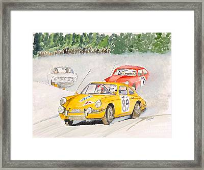 Framed Print featuring the painting The Winter Rally by Eva Ason