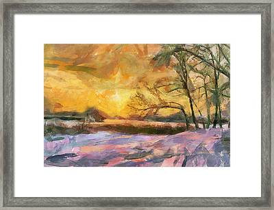 The Winter Sunset Framed Print by Yury Malkov