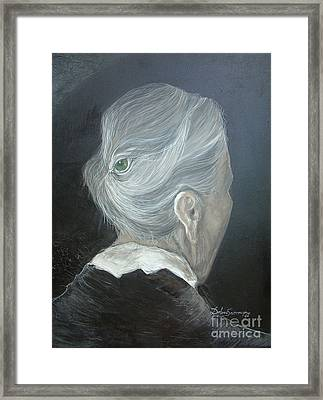 Framed Print featuring the painting The Wisdom Eye  by Delona Seserman