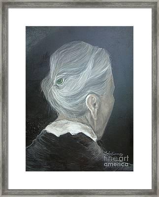 The Wisdom Eye  Framed Print by Delona Seserman