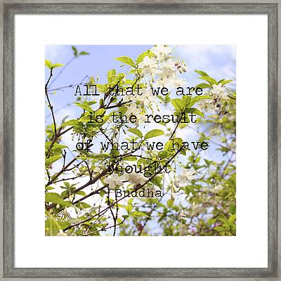 The Wisdom Of Buddha Framed Print