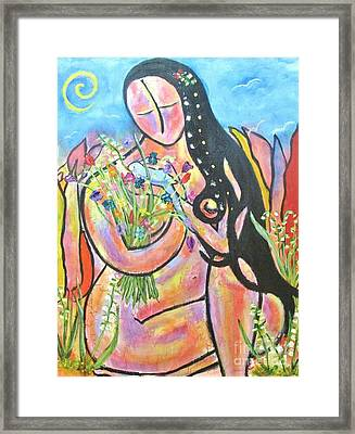 The Wise Hand Framed Print by Chaline Ouellet