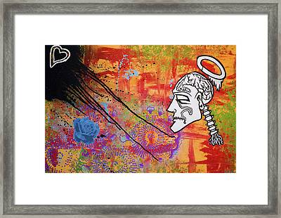 The Wise Man Strays Far From The Heart Framed Print by Bobby Zeik