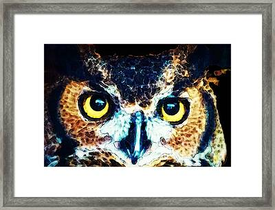 The Wise One - Owl Art By Sharon Cummings Framed Print by Sharon Cummings